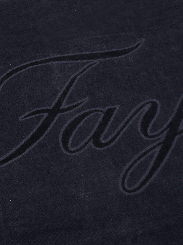 Beach towel baby Fay: Fay terry beach towel with big logo blue 2