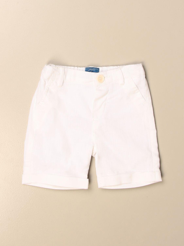 Pantaloncini Fay: Bermuda Fay in lino e cotone bianco 1