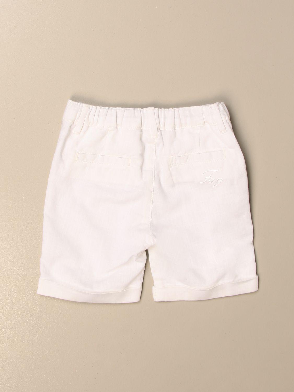 Pantaloncini Fay: Bermuda Fay in lino e cotone bianco 2