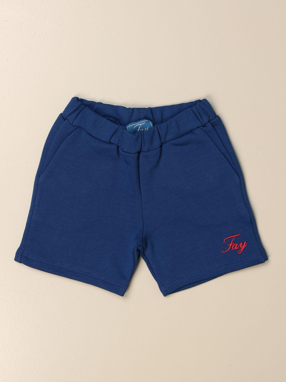 Pantaloncini Fay: Bermuda jogging Fay con logo blue 1