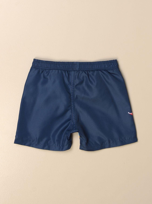 Costume Fay: Costume a boxer Fay in nylon con logo a righe colorate blue 2