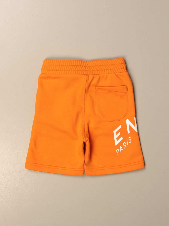 Shorts Givenchy: Givenchy jogging bermuda shorts in cotton with logo orange 2
