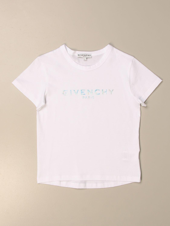 T-shirt Givenchy: T-shirt basic Givenchy in cotone con logo bianco 1