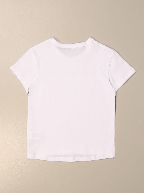 T-shirt Givenchy: T-shirt basic Givenchy in cotone con logo bianco 2