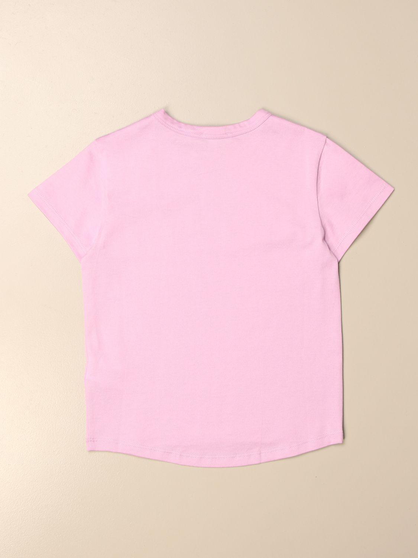T-shirt Givenchy: T-shirt basic Givenchy in cotone con logo rosa 2