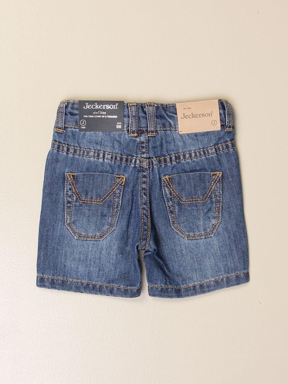 Pantaloncini Jeckerson: Pantaloncino di jeans Jeckerson con toppe camu denim 2