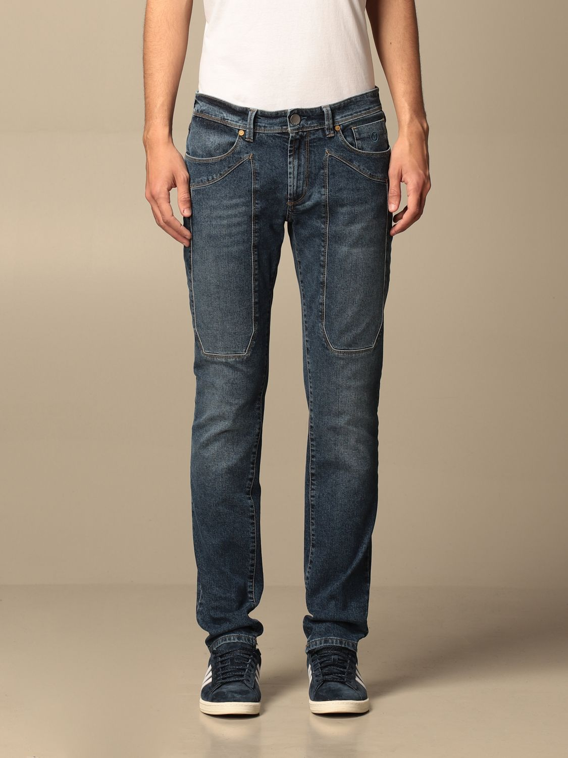 Jeans Jeckerson: Jeckerson stretch jeans with patches denim 1