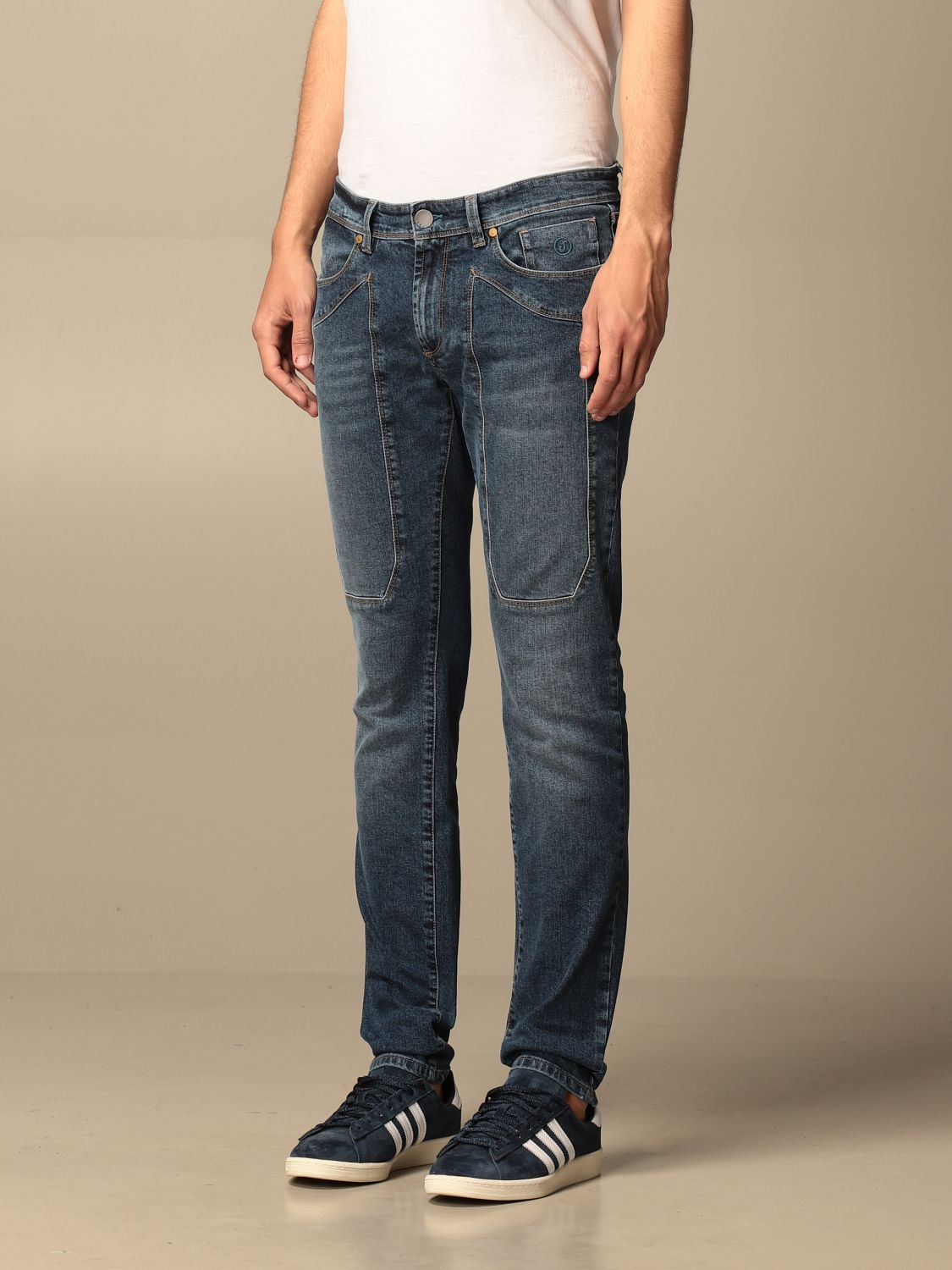 Jeans Jeckerson: Jeckerson stretch jeans with patches denim 3