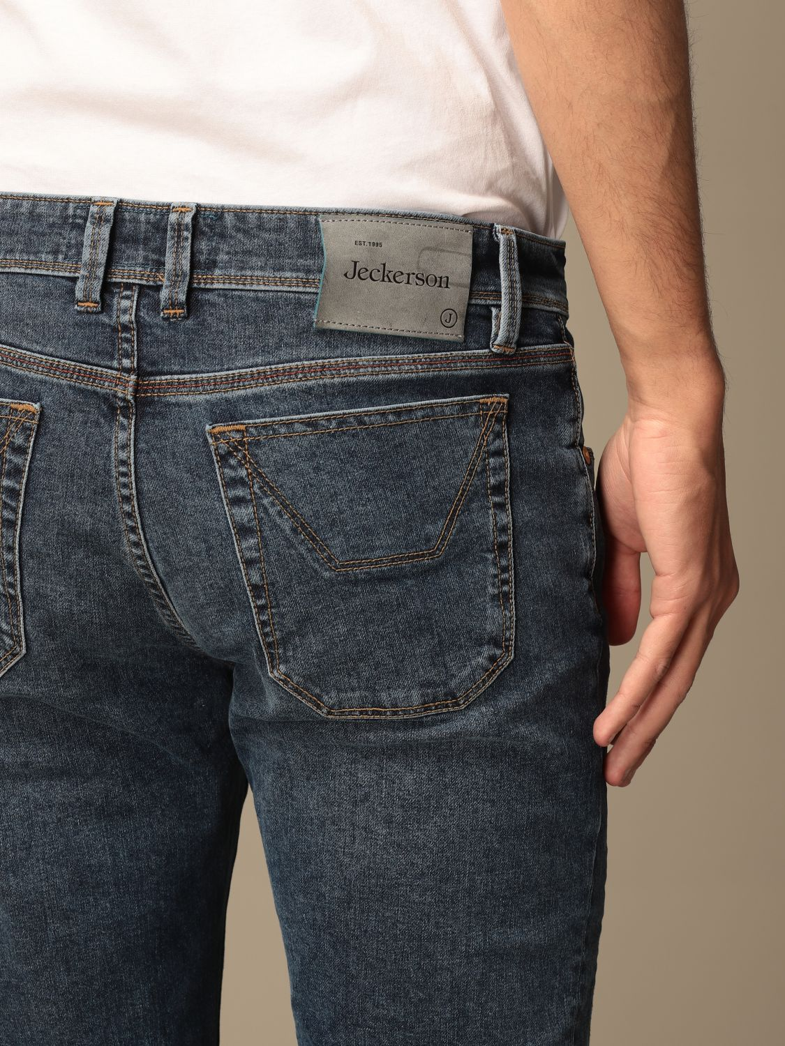 Jeans Jeckerson: Jeckerson stretch jeans with patches denim 4