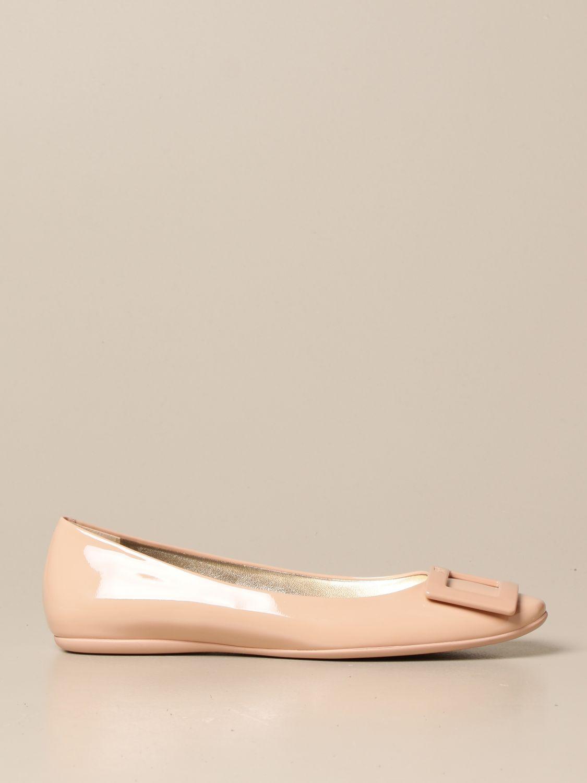балетки Roger Vivier: Обувь Женское Roger Vivier нюд 1