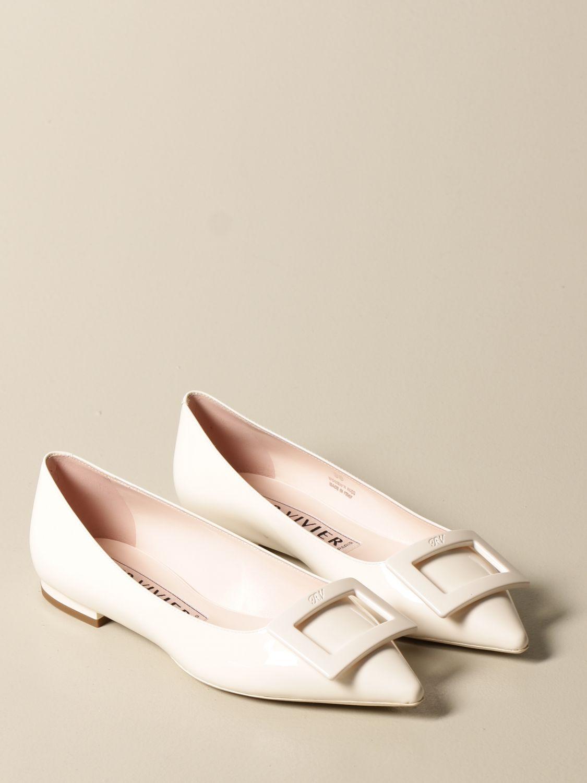 балетки Roger Vivier: Обувь Женское Roger Vivier белый 2