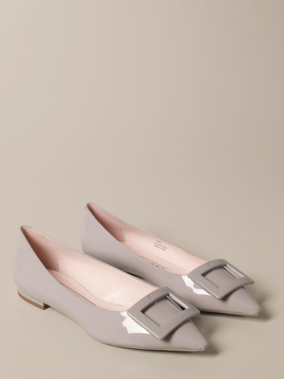 балетки Roger Vivier: Обувь Женское Roger Vivier пыльно-серый 2