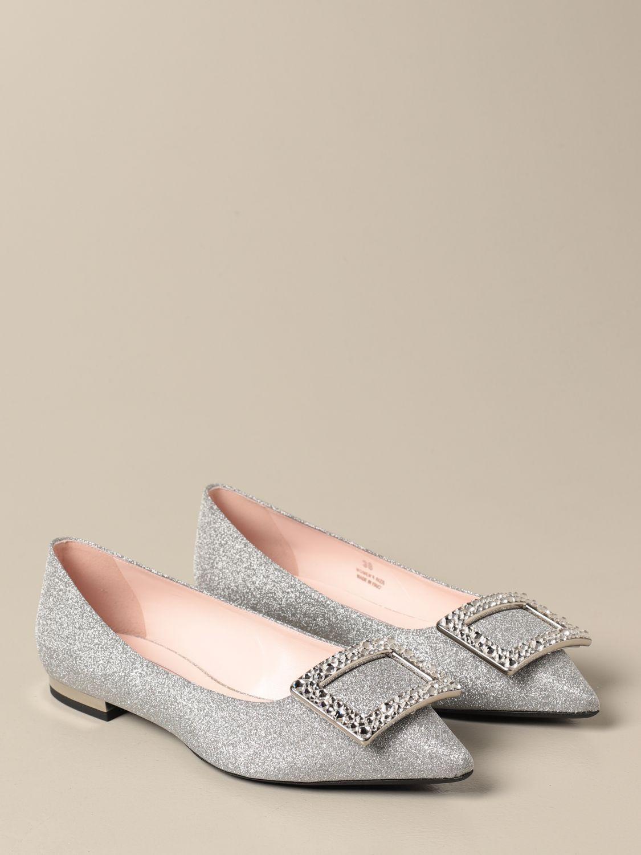 балетки Roger Vivier: Обувь Женское Roger Vivier серебряный 2