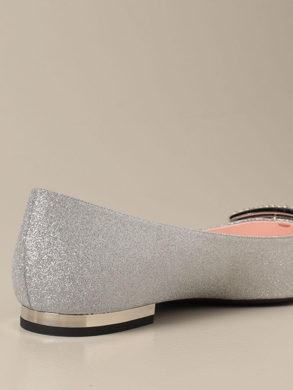 балетки Roger Vivier: Обувь Женское Roger Vivier серебряный 3