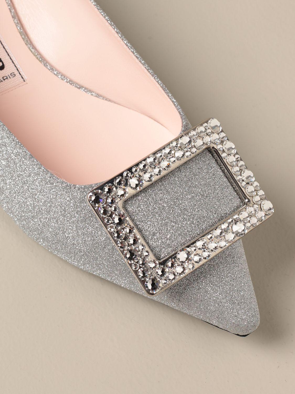балетки Roger Vivier: Обувь Женское Roger Vivier серебряный 4