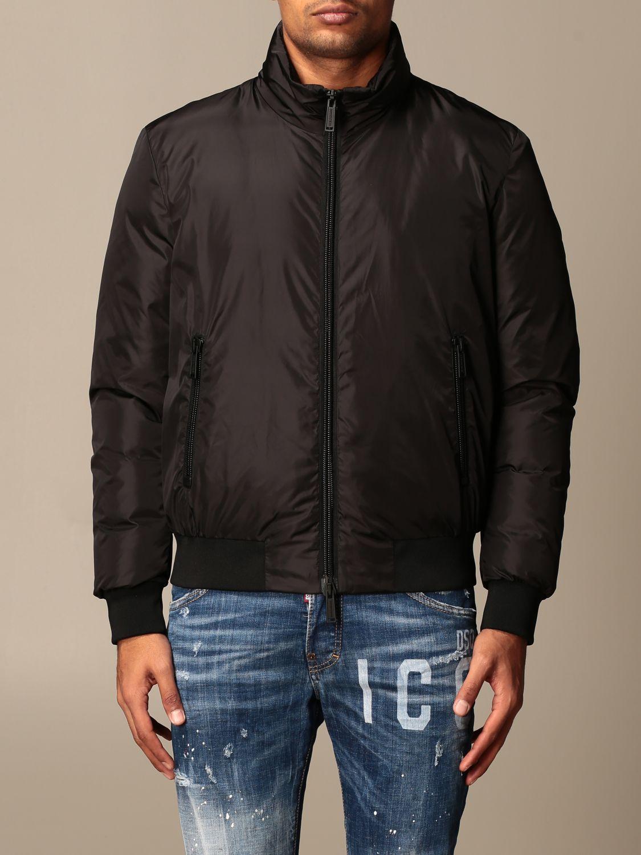 Jacket Dsquared2: Icon Dsquared2 nylon bomber jacket with logo black 1