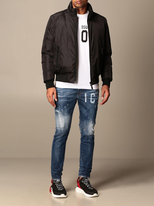 Jacket Dsquared2: Icon Dsquared2 nylon bomber jacket with logo black 2