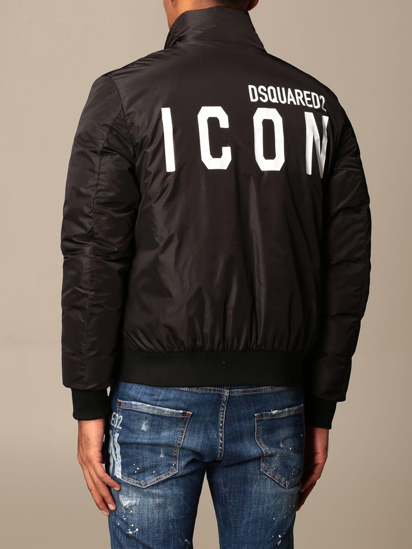 Jacket Dsquared2: Icon Dsquared2 nylon bomber jacket with logo black 3