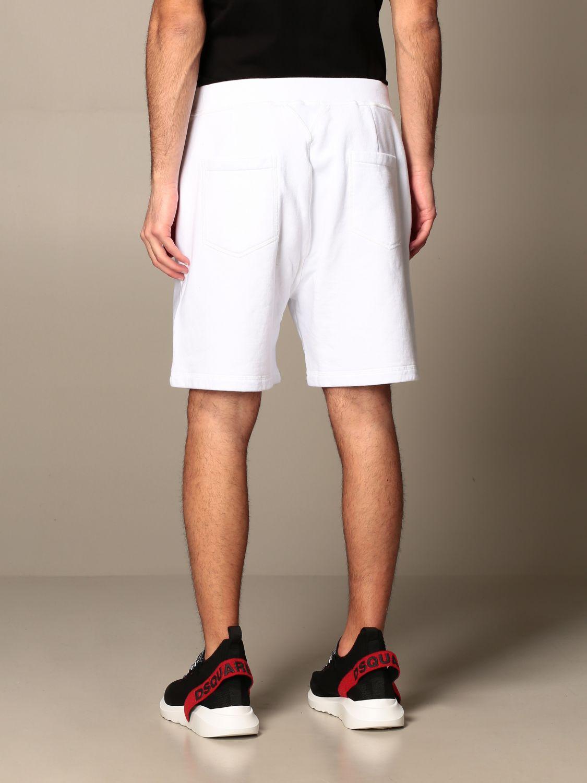 Pantalones cortos Dsquared2: Pantalones cortos hombre Dsquared2 blanco 3