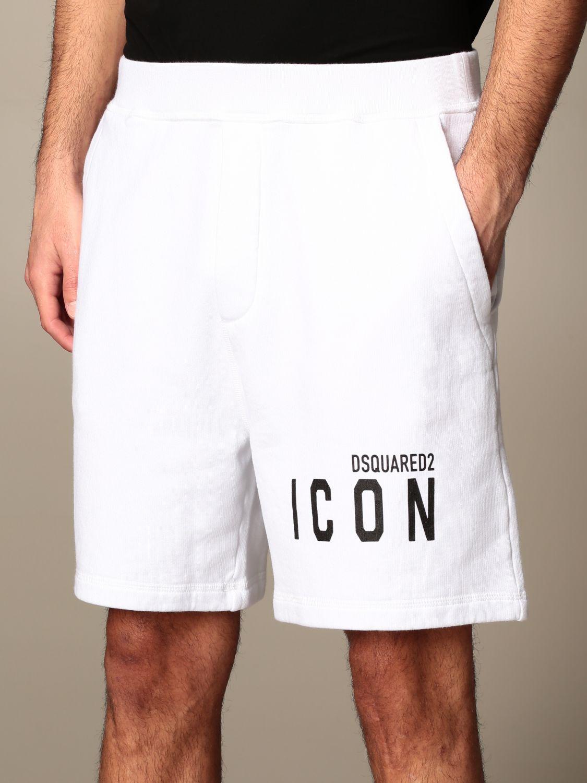 Pantalones cortos Dsquared2: Pantalones cortos hombre Dsquared2 blanco 4