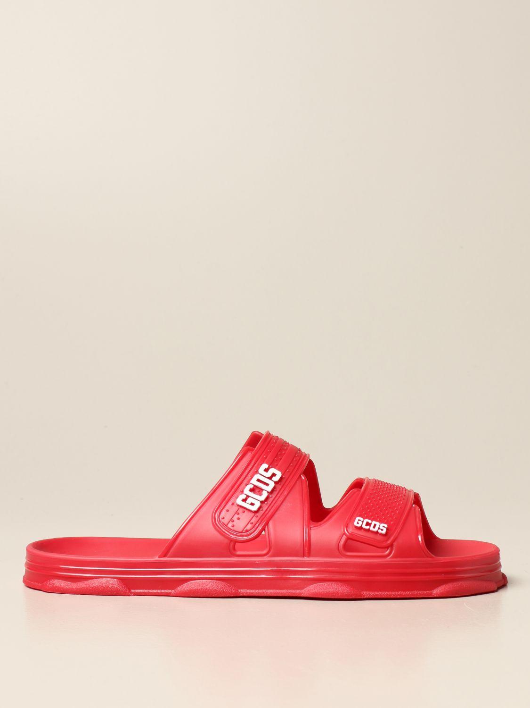 Sandalias Gcds: Zapatos hombre Gcds rojo 1