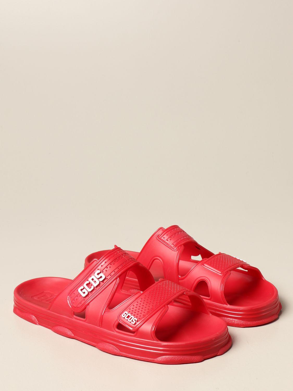 Sandalias Gcds: Zapatos hombre Gcds rojo 2