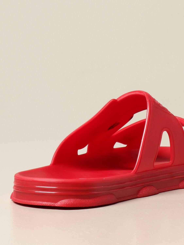 Sandalias Gcds: Zapatos hombre Gcds rojo 3