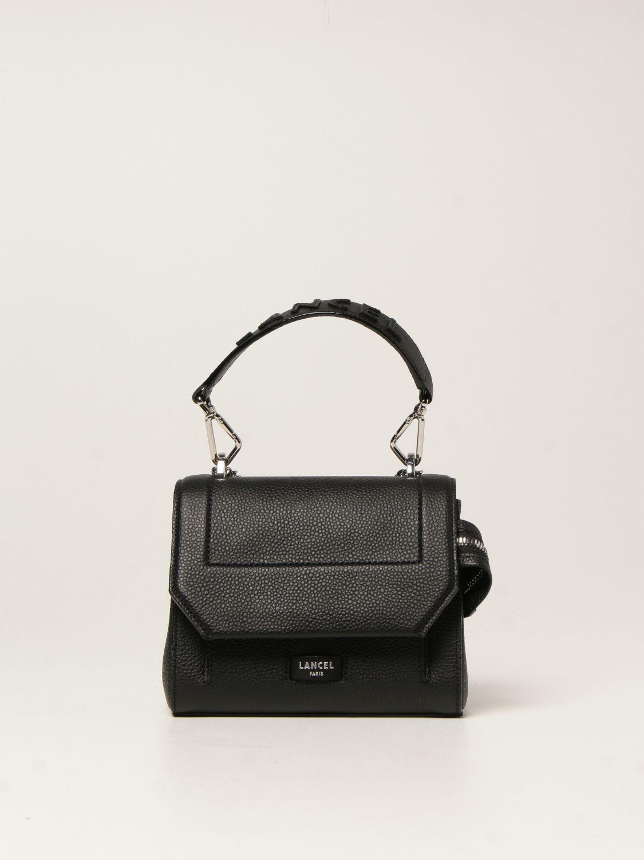 Mini bag Lancel: Ninon Lancel bag in hammered leather black 1