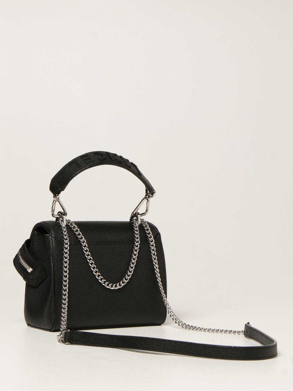 Mini bag Lancel: Ninon Lancel bag in hammered leather black 2