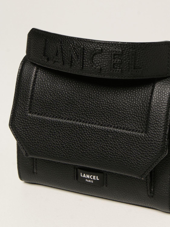 Mini bag Lancel: Ninon Lancel bag in hammered leather black 3