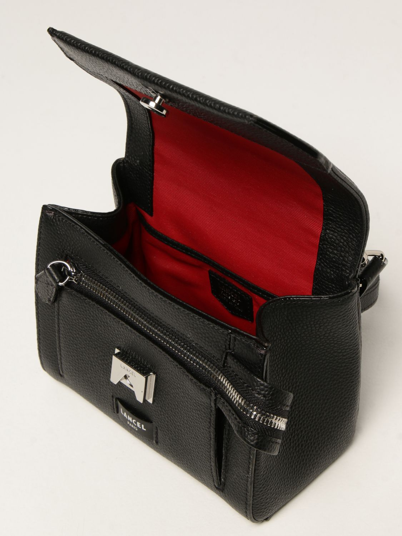 Mini bag Lancel: Ninon Lancel bag in hammered leather black 4
