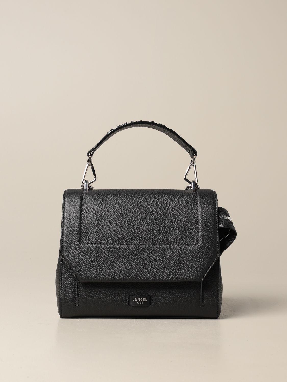 Handbag Lancel: Ninon Lancel bag in hammered leather black 1