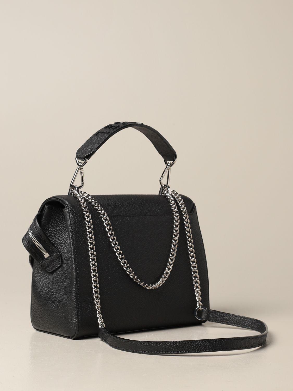 Handbag Lancel: Ninon Lancel bag in hammered leather black 2