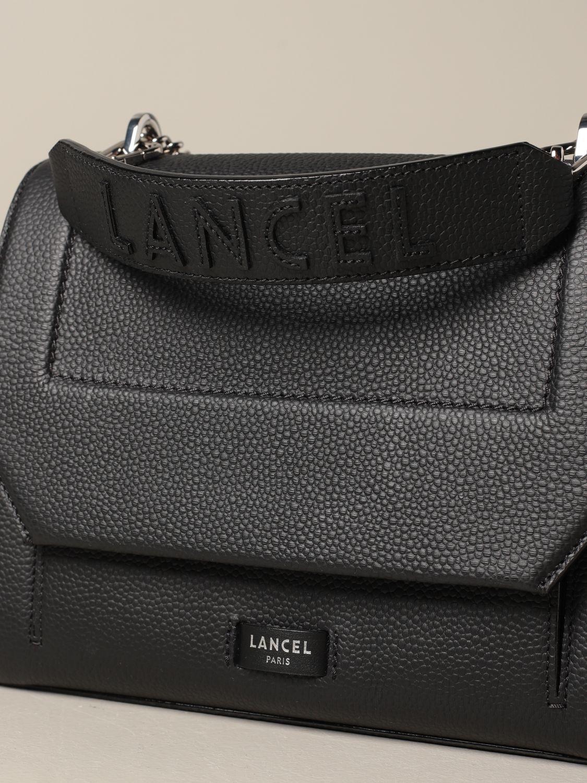 Handbag Lancel: Ninon Lancel bag in hammered leather black 3