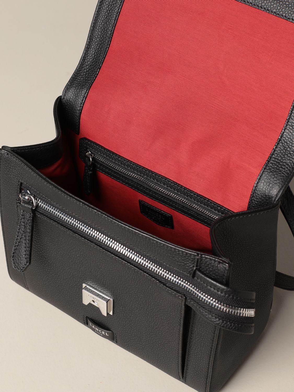 Handbag Lancel: Ninon Lancel bag in hammered leather black 4