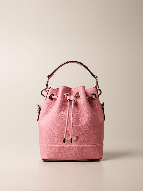 Shoulder bag Lancel: Lancel bucket bag in hammered leather pink 1