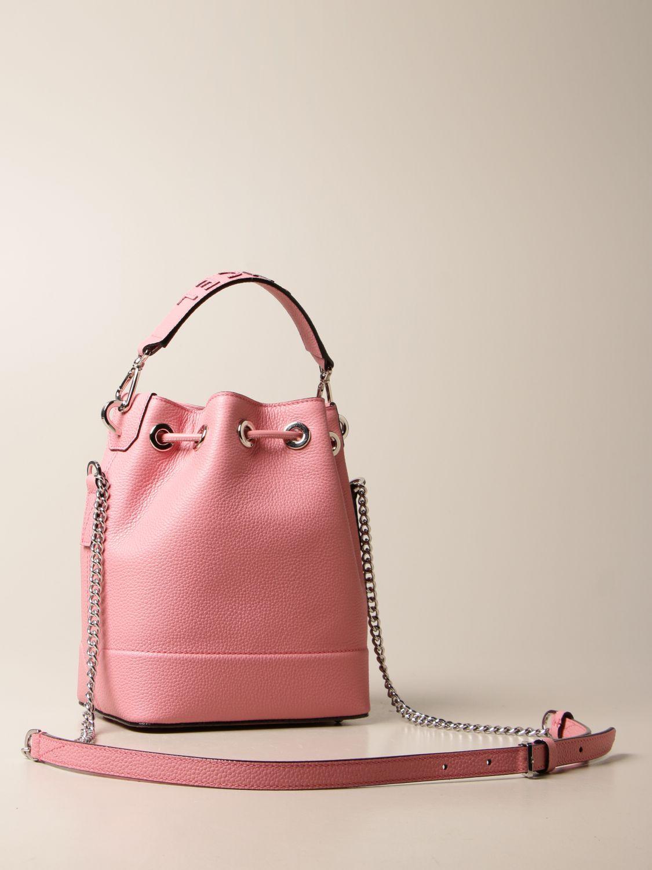 Shoulder bag Lancel: Lancel bucket bag in hammered leather pink 3