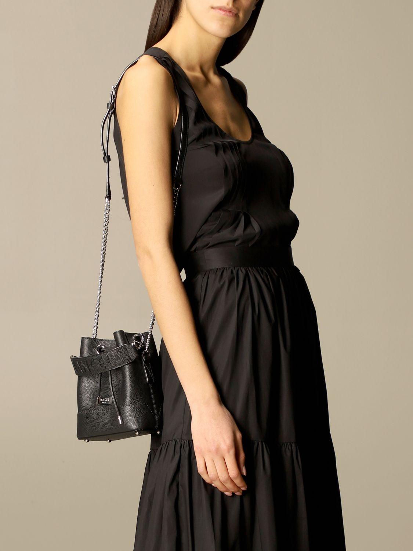 Mini bag Lancel: Lancel bucket bag in hammered leather black 2