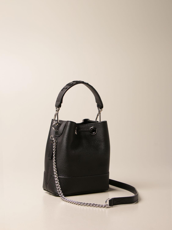 Mini bag Lancel: Lancel bucket bag in hammered leather black 3