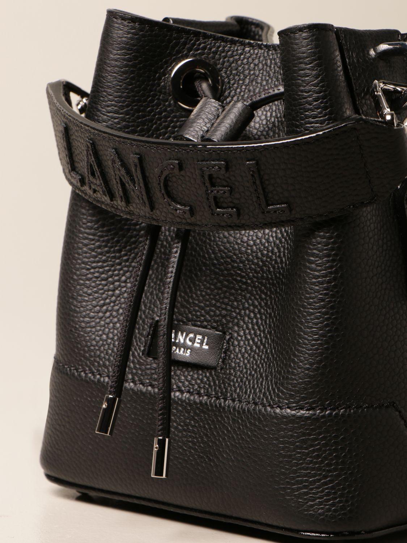 Mini bag Lancel: Lancel bucket bag in hammered leather black 4