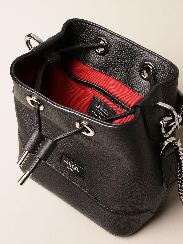 Mini bag Lancel: Lancel bucket bag in hammered leather black 5
