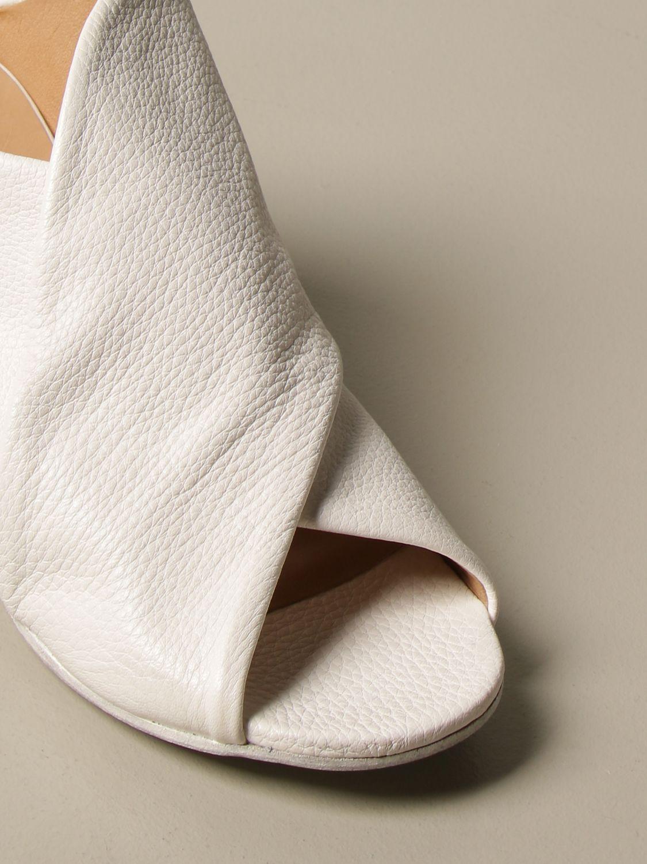 Sandalen mit Absatz Marsell: Schuhe damen Marsell weiß 4