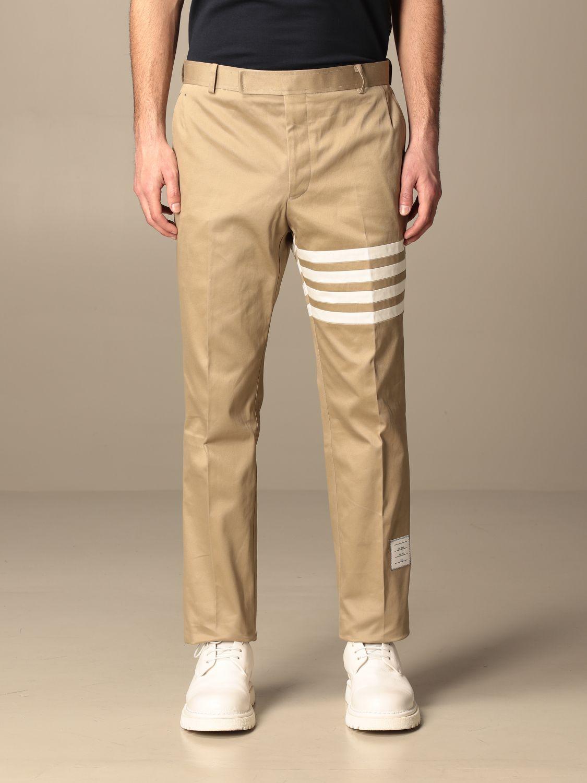 Trousers Thom Browne: Trousers men Thom Browne beige 1