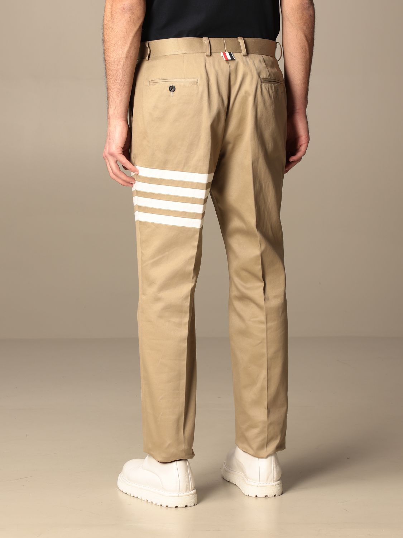Trousers Thom Browne: Trousers men Thom Browne beige 3