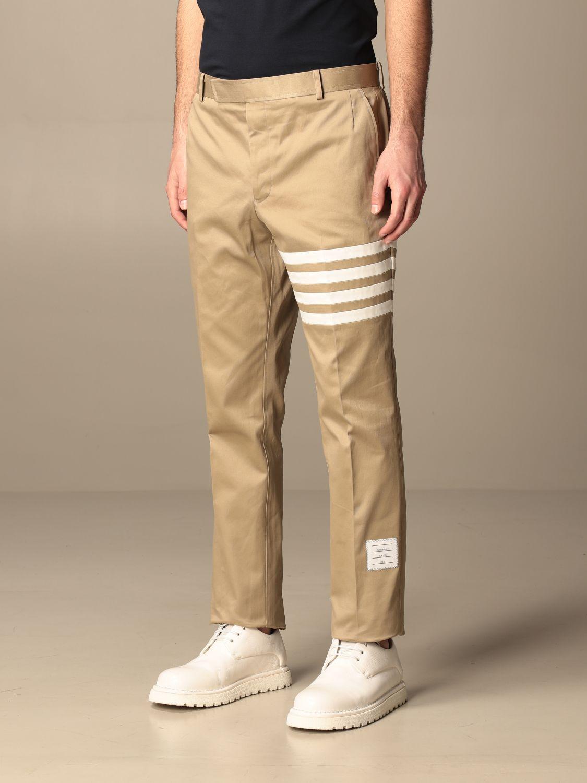 Trousers Thom Browne: Trousers men Thom Browne beige 4