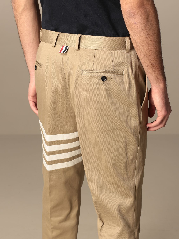 Trousers Thom Browne: Trousers men Thom Browne beige 5