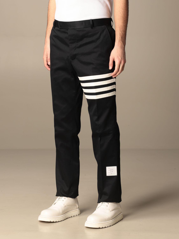 Trousers Thom Browne: Trousers men Thom Browne navy 4