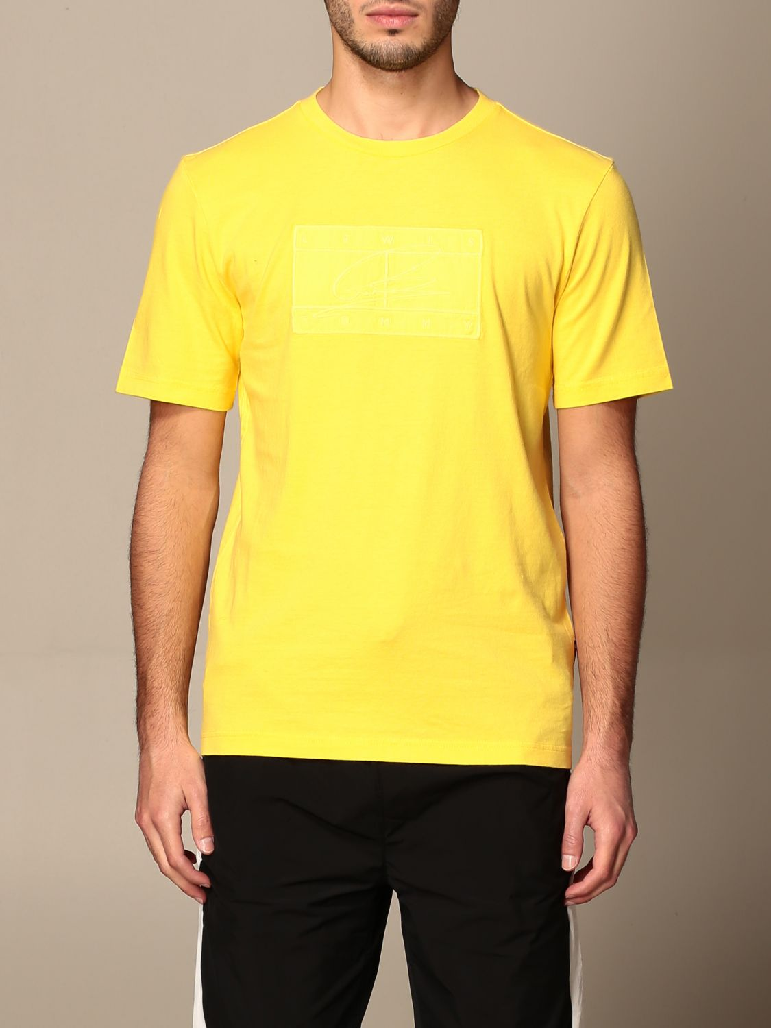 T-shirt Hilfiger Collection: Lewis Hamilton relaxed fit cotton T-shirt yellow 1