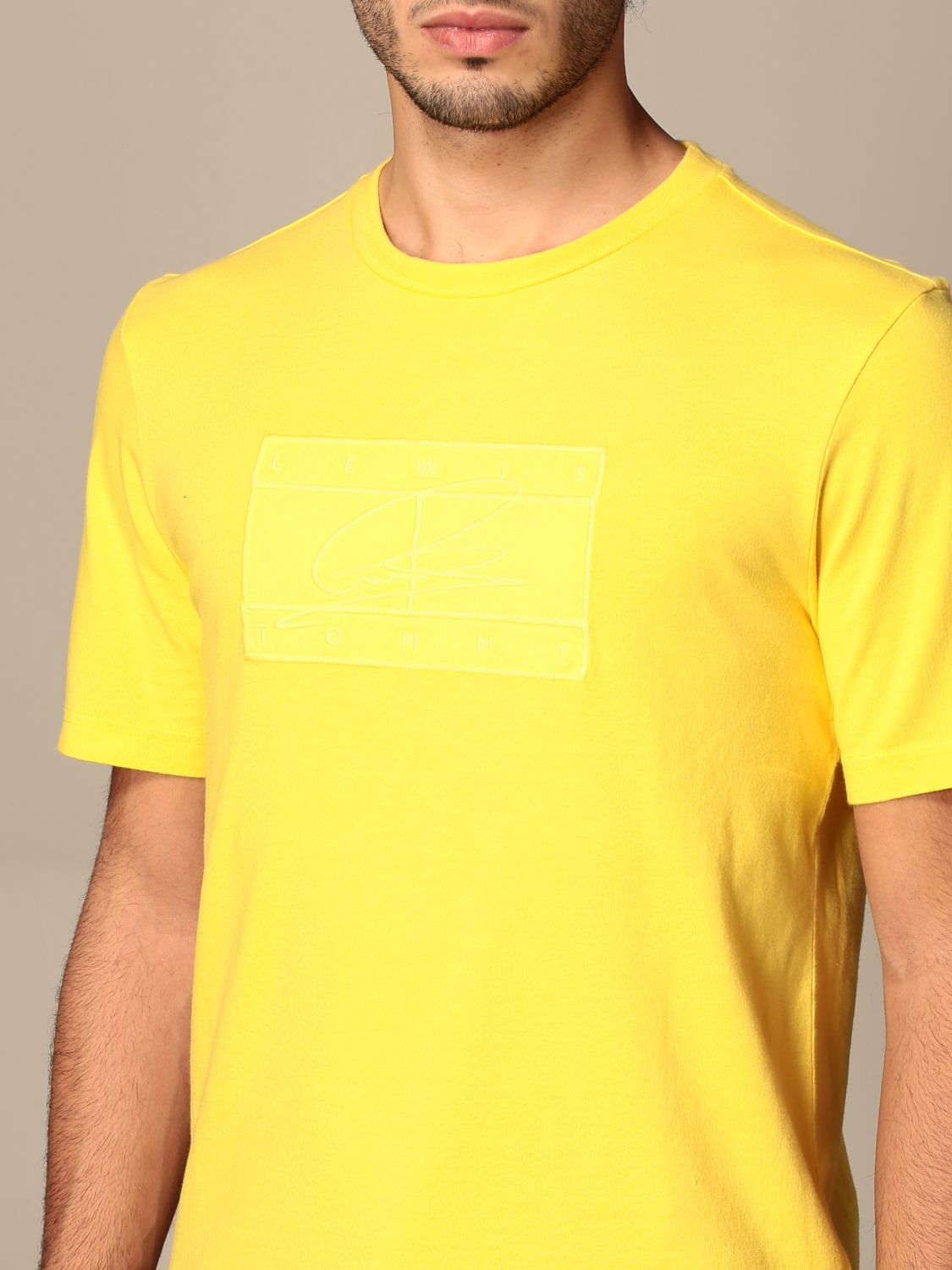 T-shirt Hilfiger Collection: Lewis Hamilton relaxed fit cotton T-shirt yellow 4