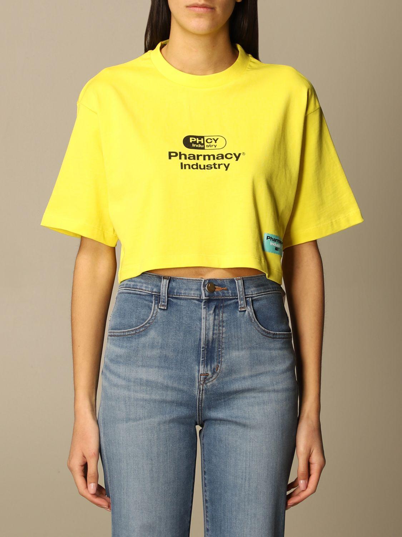 T-Shirt Pharmacy Industry: T-shirt damen Pharmacy Industry gelb 1